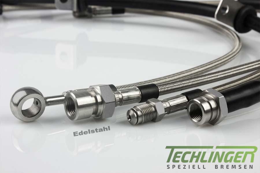 Stahlflex Bremsschläuche für Mazda 626 3 Coupe GD EDELSTAHL